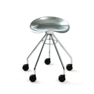 Knoll Pepe Cortes Jamaica Low Stool with Casters