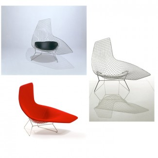 Knoll Harry Bertoia Asymmetric Chaise