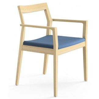 Knoll Marc Krusin - Guest Seating Collection Krusin Side Chair with Arms