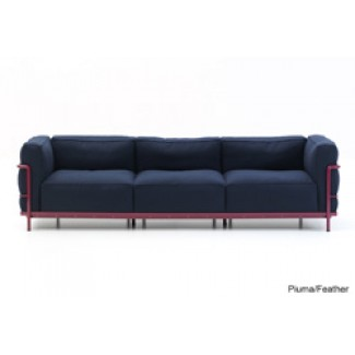 Cassina LC2 Petit Modele Three-Seat Sofa