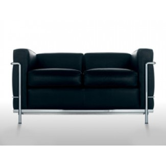 Cassina LC2 Petit Modele Two-Seat Sofa