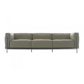 Cassina LC3 Grand Modele Three-Seat Sofa