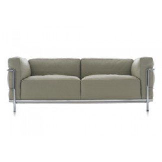 Cassina LC3 Grand Modele Two-Seat Sofa