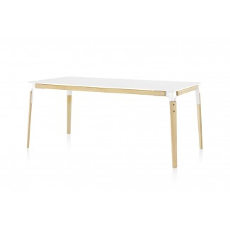 Magis Steelwood Table, Rectangular