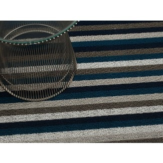 Chilewich Even Stripe Shag Indoor/Outdoor Mats
