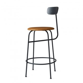 Menu Afteroom Counter Stool, Leather Upholstered