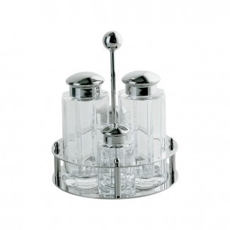 Alessi Condiment Set Oil Vinegar Salt Pepper MG05