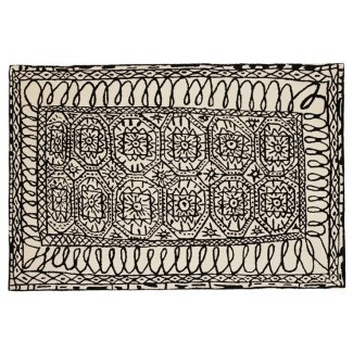 Nani Marquina Black on white Estambul Rug
