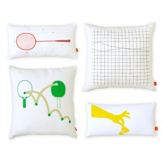 Gus* Modern Graphic Pillows - Racquet Sports 4 pack