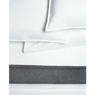 Area Bedding Pleat White Fitted Sheet