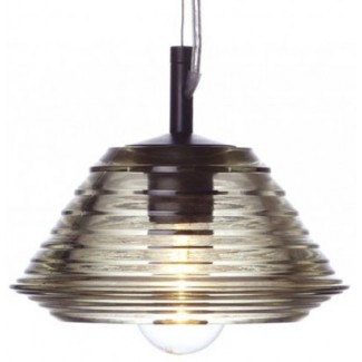 Tom Dixon Pressed Glass Bowl Pendant Light