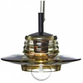 CLEARANCE - Tom Dixon Pressed Glass Lens Pendant Light