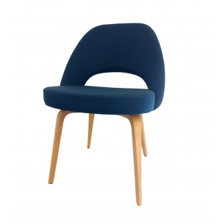 Knoll Eero Saarinen - Executive Armless Chair (Wood Legs And Glides)
