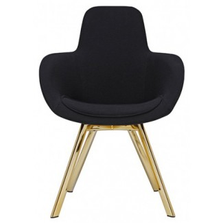 Tom Dixon Scoop High Chair Brass Legs