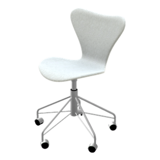 Fritz Hansen Series 7 Swivel Chair (Fully Upholstered)