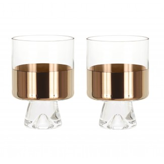Tom Dixon Tank Low Ball Glasses (Set of 2)