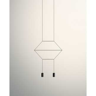 Vibia Wireflow 2D 2-Light Pendant Lamp