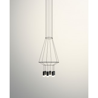 Vibia Wireflow 3D Hexagonal Pendant Lamp