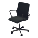 Fritz Hansen Oxford Classic Black Low Back Chair