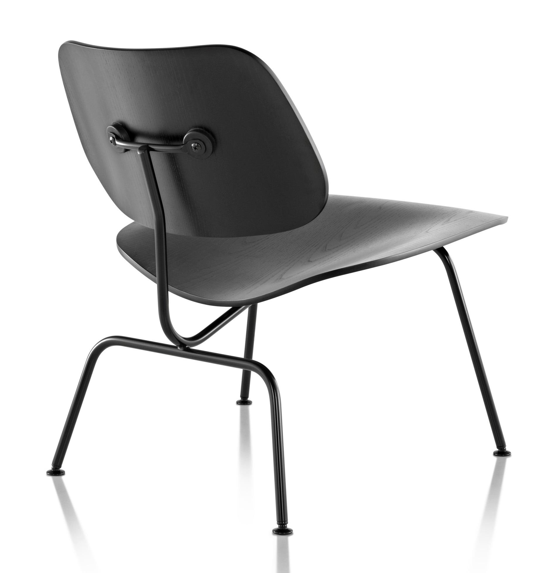Herman miller eames molded plywood lounge chair metal for Eames herman miller lounge chair