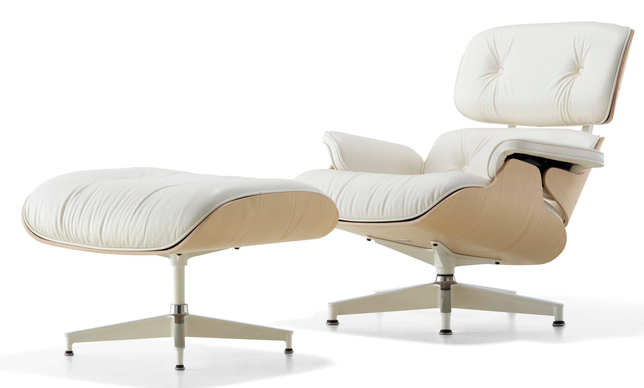 herman miller eames lounge chair and ottoman white ash