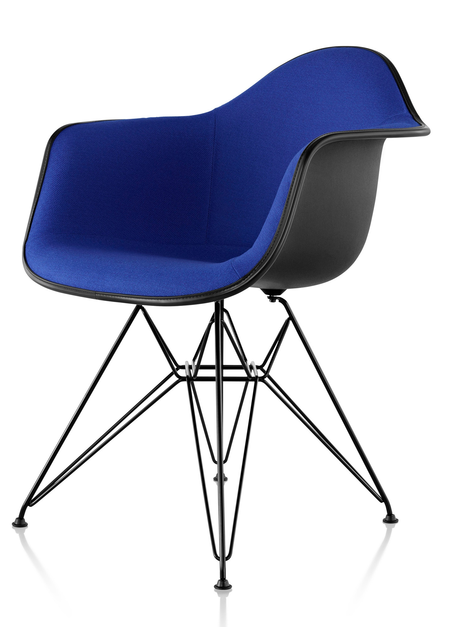 herman miller eames molded plastic armchair upholstered. Black Bedroom Furniture Sets. Home Design Ideas