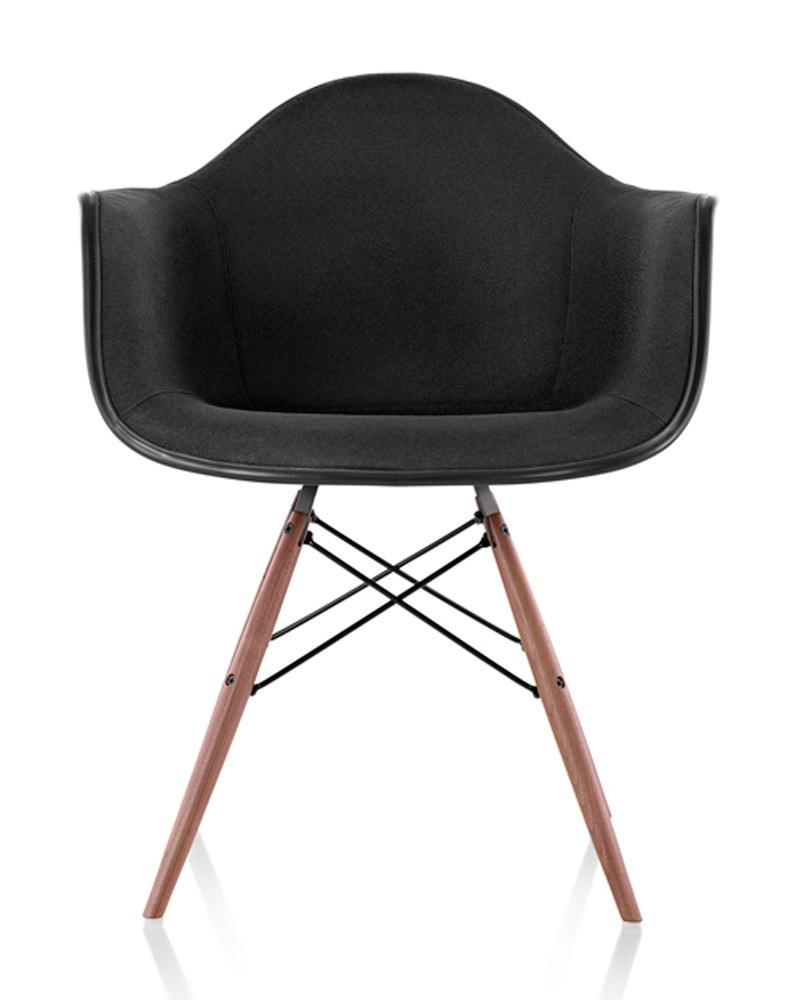 herman miller eames molded plastic armchair upholstered shell gr