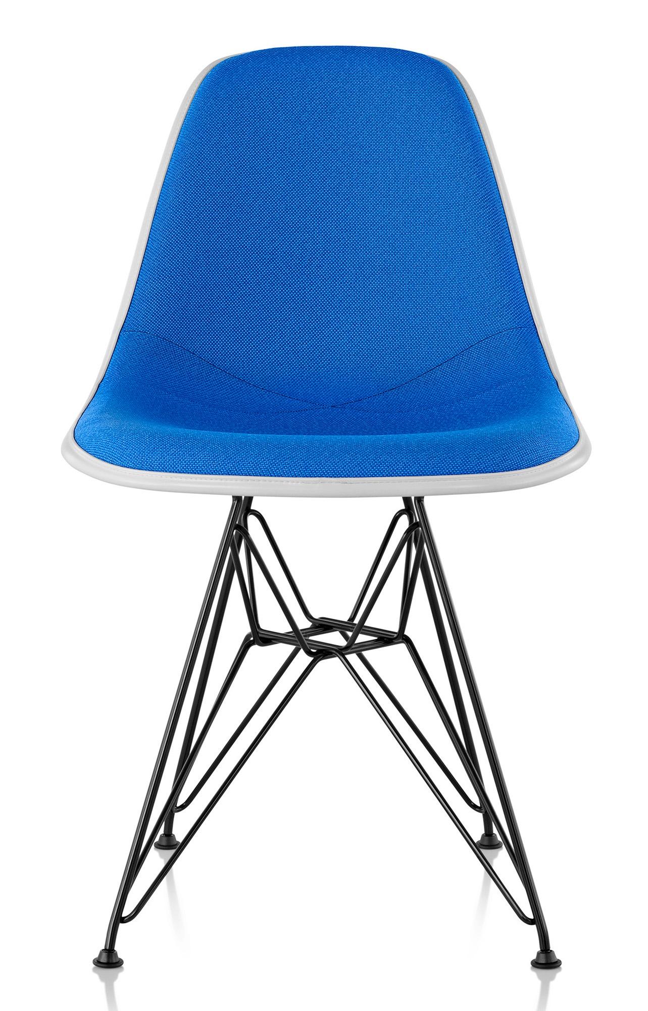Herman miller eames 174 molded plastic side chair upholstered shell gr