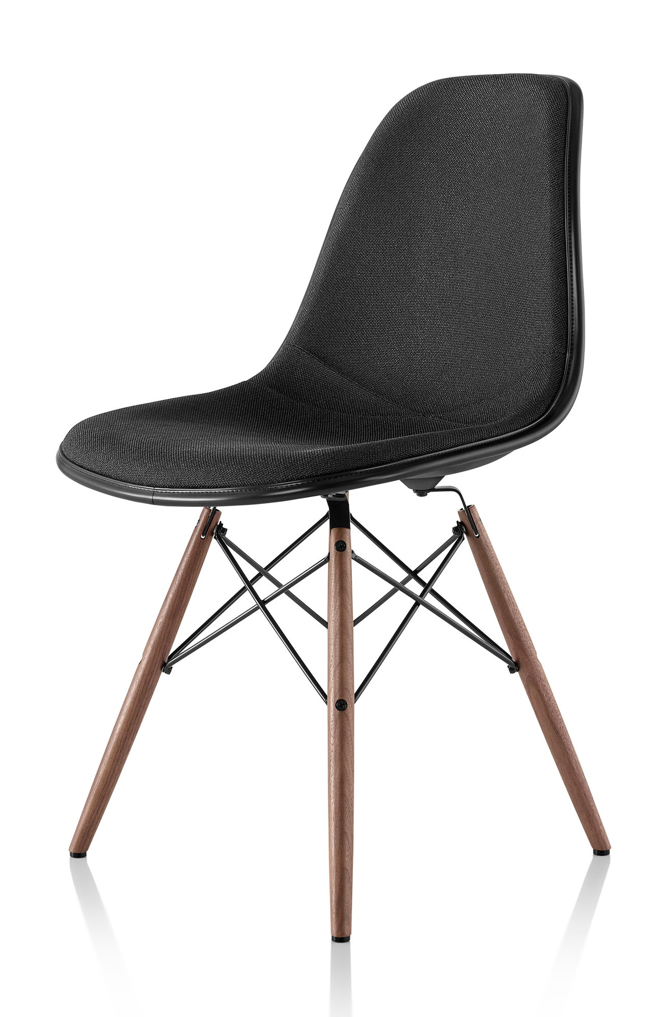 herman miller eames molded plastic side chair upholstered. Black Bedroom Furniture Sets. Home Design Ideas
