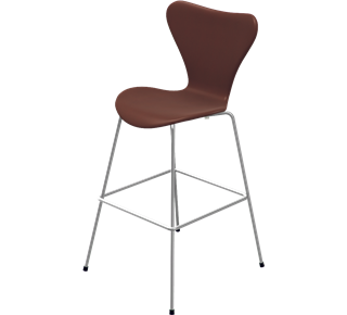 fritz hansen series 7 bar counter stool fully upholstered gr shop canada. Black Bedroom Furniture Sets. Home Design Ideas