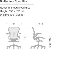 Herman Miller Aeron 174 Chair Fully Loaded