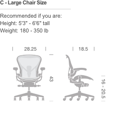Herman Miller Aeron 174 Chair Basic Gr Shop Canada