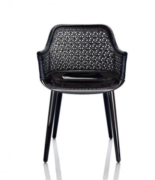 Magis cyborg elegant armchair with wicker back gr shop for Magis cyborg