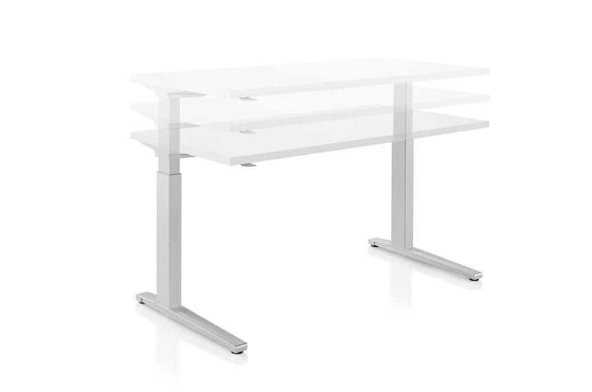 Herman Miller Renew Sit To Stand Table Rectangular C Foot