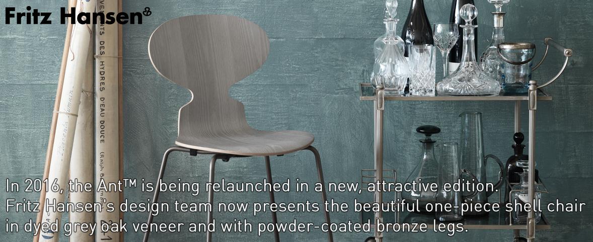 Fritz ant chair - bronze/grey oak
