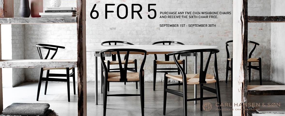 Carl Hansen, CH24 Wishbone Chairs - 6 For 5