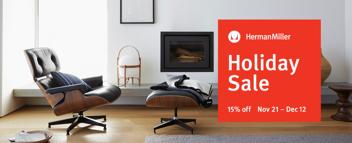 The anticipated Herman Miller Holiday Sale, Save 15% from Nov 21 to Dec 12