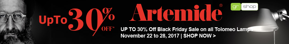Artemide Tolomeo 2017 Black Friday Week Sale, UP TO 30% Off, November 22 to November 28