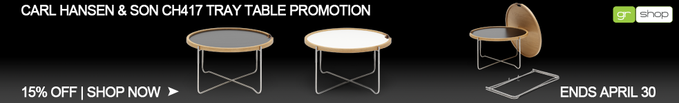 Carl Hansen & Son CH417 Tray Table Promotion, Save 15%. Ends April 30th
