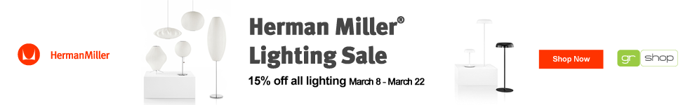 Herman Miller Lighting Sale March 8-22 - Save 15%