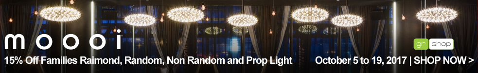 Sales October 5-19th All lights within the product families Raimond, Random, Non Random and Prop Light. To be sold at an advertised 15% discount during this period only.
