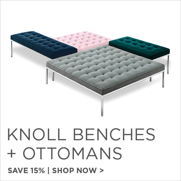 Knoll Benches and Ottomans, Save 15%